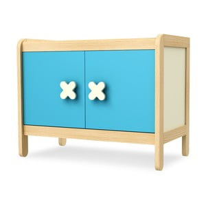 Modrá dvoudvéřová skříňka Timoore Simple