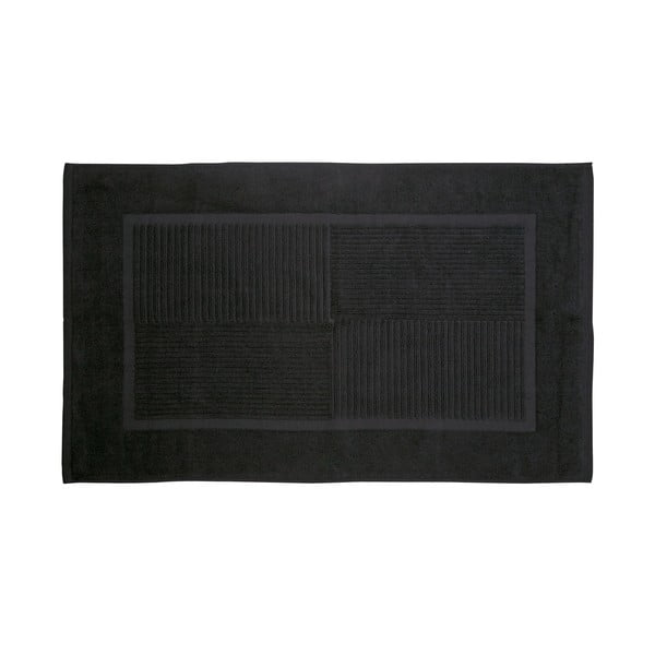 Koupelnová předložka, 80x50 cm, černá