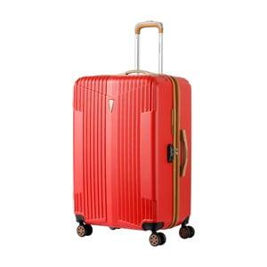 Červený kufr na kolečkách Murano Miami