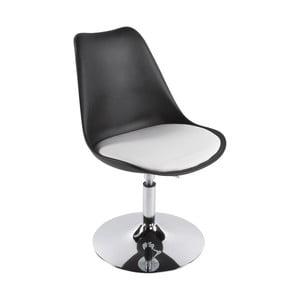 Černo-bílá jídelní židle Kokoon Victoria