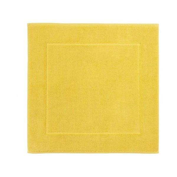 Žlutá koupelnová předložka z egyptské bavlny Aquanova London, 60x60cm