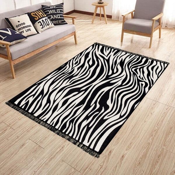 Dwustronny dywan odpowiedni do prania Kate Louise Doube Sided Rug Zebra, 80x150 cm