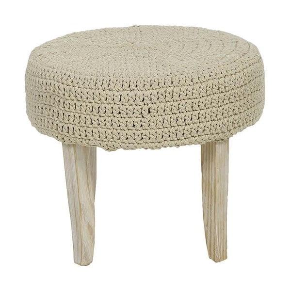 Pletená stolička Cream, 48x40 cm