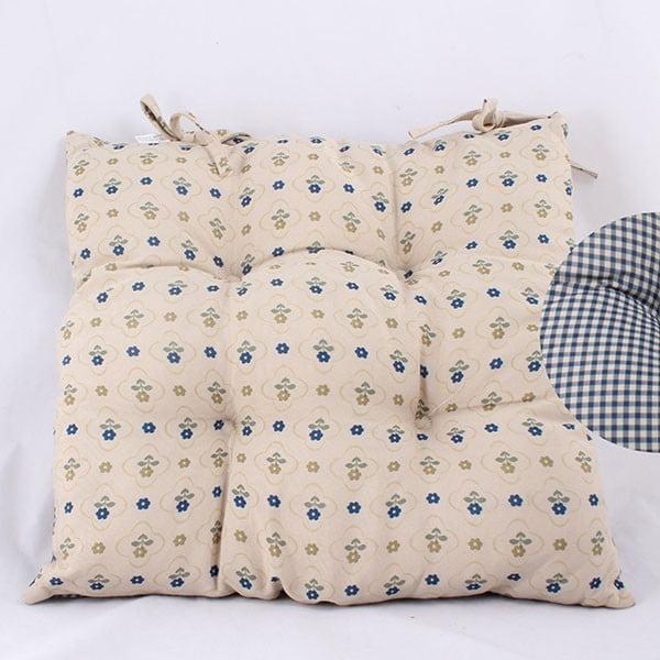 Polštářek na židli Dots Blue