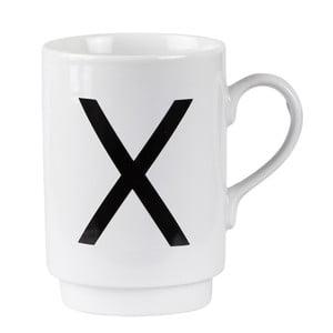 Porcelánový písmenkový hrnek X