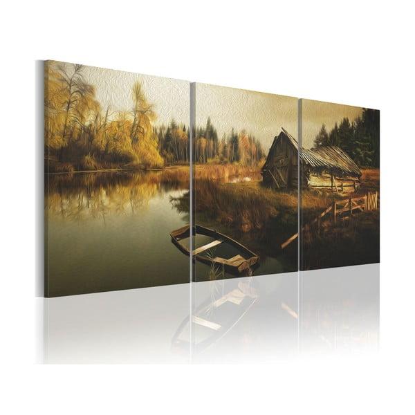 Vícedílný obraz na plátně Artgeist Hut 120 x 60 cm