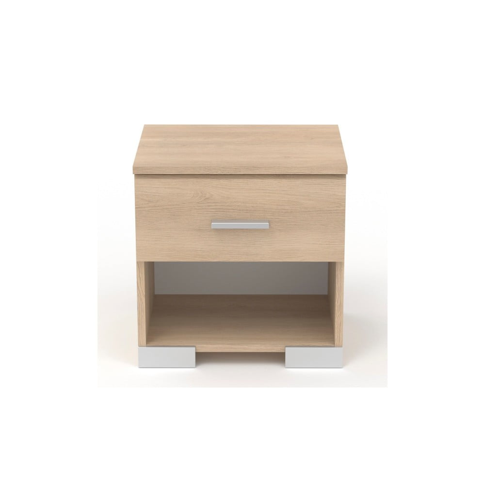 Noční stolek v dekoru dubového dřeva se zásuvkou Parisot Alix