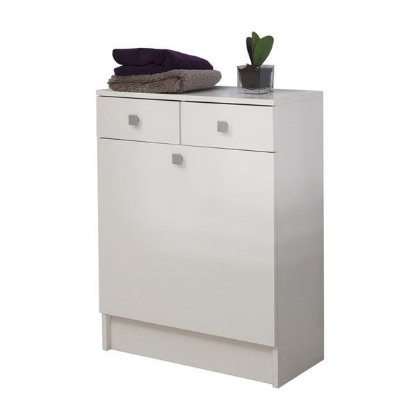 Combi fehér fürdőszobaszekrény belső szennyestartóval, szélesség 60 cm - TemaHome