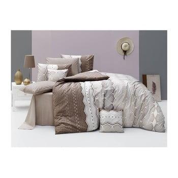 Lenjerie de pat cu cearșaf Ekinoks Sugar, 160 x 220 cm de la Nazenin Home