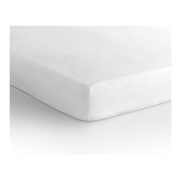 Bílé elastické prostěradlo Sleeptime,140x200cm