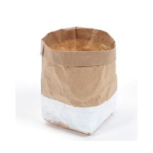 Svícen/květináč  Feeling Bag Bruin Wit, 10 cm