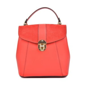 Červený kožený batoh Isabella Rhea Milesso