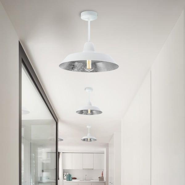 Bílo-stříbrné stropní svítidlo Bulb Attack Cinco
