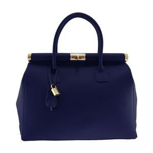 Modrá kožená taška Chicca Borse Alamir