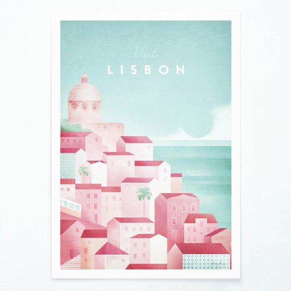 Plakát Travelposter Lisbon, A3