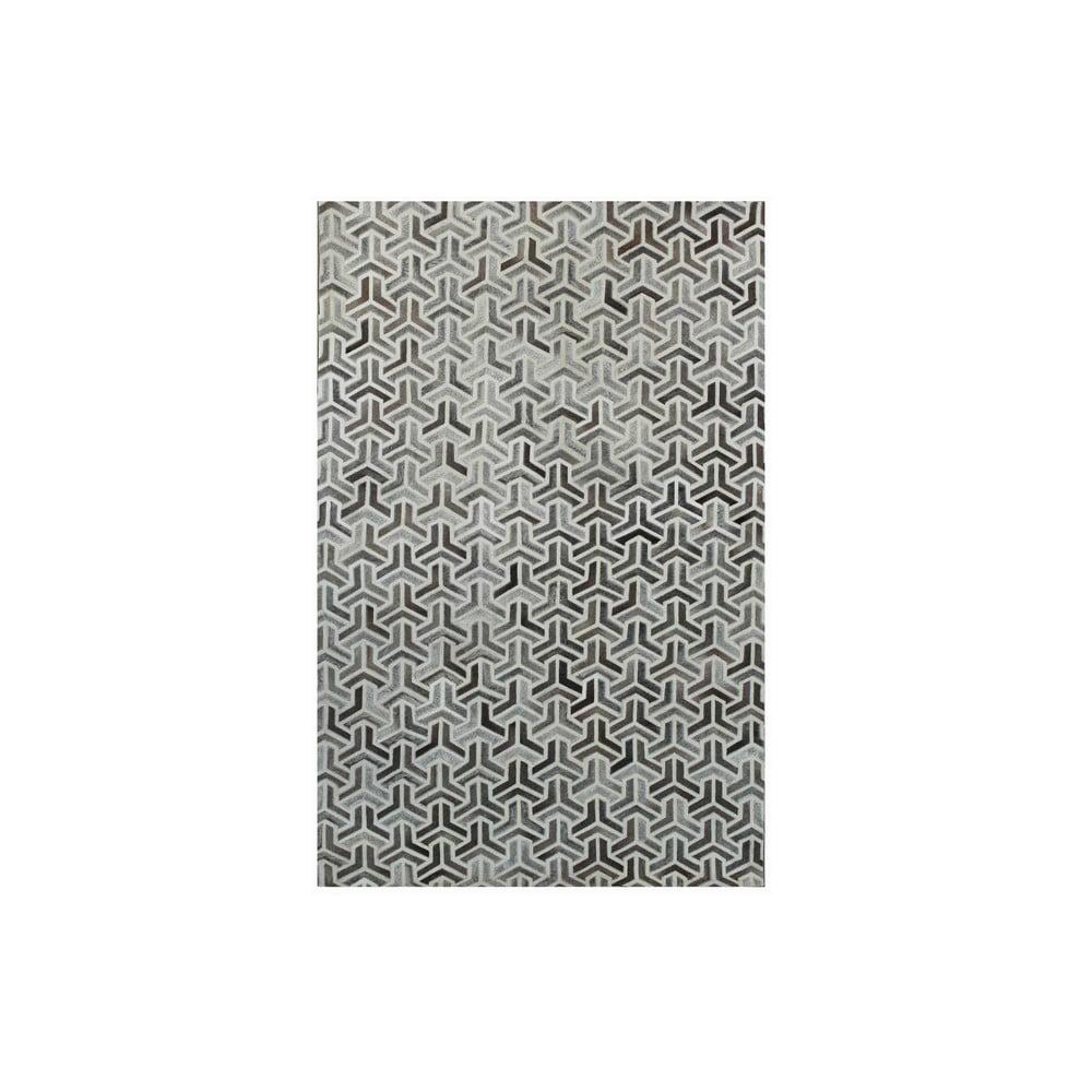Koberec z pravé kůže Bolzano Grey, 140x200 cm