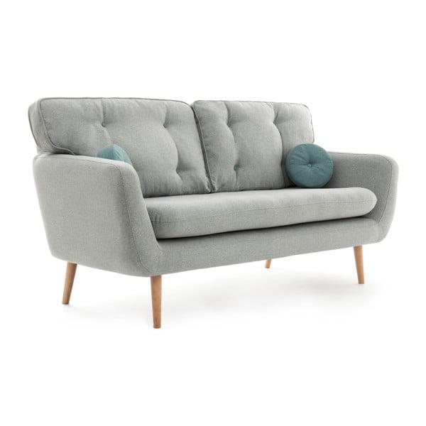 Canapea cu 3 locuri Vivonia Malva, gri deschis - albastru
