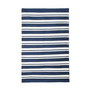 Modrý bavlněný ručně tkaný koberec Pipsa Navy Stripes, 200x140 cm