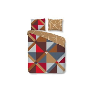 Povlečení Brick Geometric, 200x200 cm, zapínání na přehyb