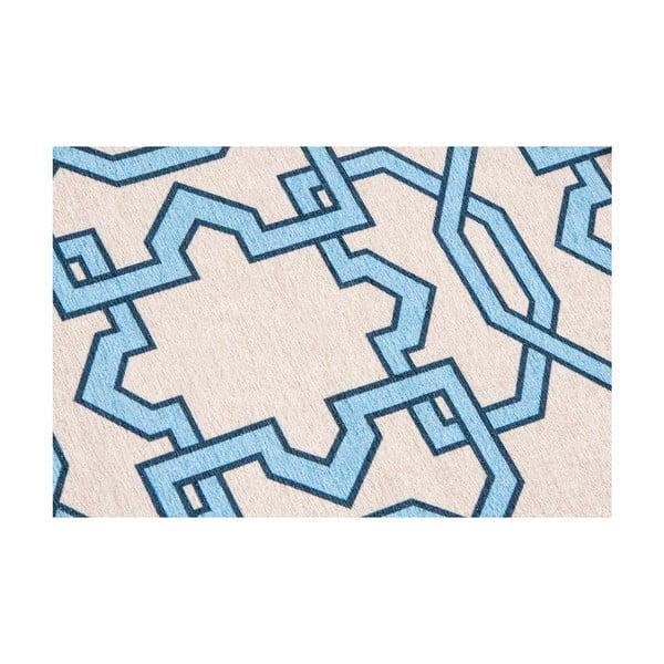Vysoce odolný kuchyňský koberec Webtappeti Tiles Blue, 80x130 cm