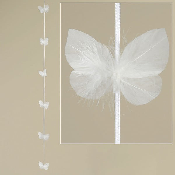 Peříčková girlanda Feathers, 120 cm