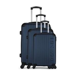 Sada 3 tmavě modrých cestovních kufrů na kolečkách GENTLEMAN FARMER Cadenas Integre