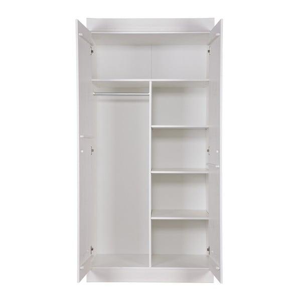 Dvoukřídlá skříň Locker, bílá
