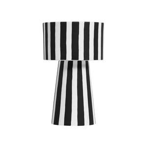 Černo-bílá keramická váza OYOY Toppu, ⌀ 24 cm