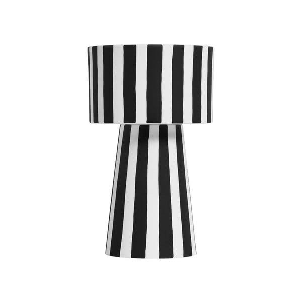 Čierno-biela keramická váza OYOY Toppu, ⌀ 24 cm