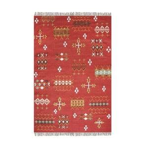 Ručně vyráběný koberec The Rug Republic Huron Red, 160 x 230 cm