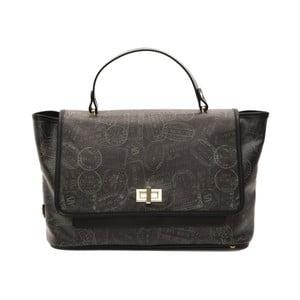 Černá kožená kabelka Alviero Martini Lucille Lungo