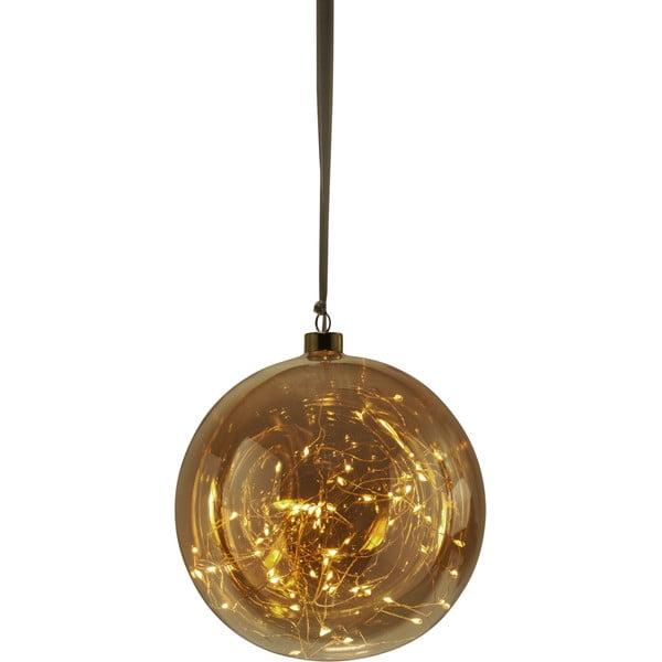 Pomarańczowa dekoracja świetlna LED Best Season Glow, ø 20 cm