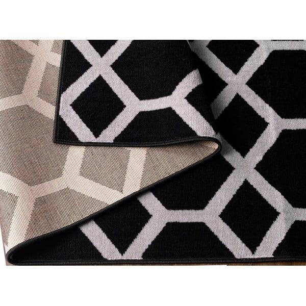 Černý koberec Velour, 200x290 cm