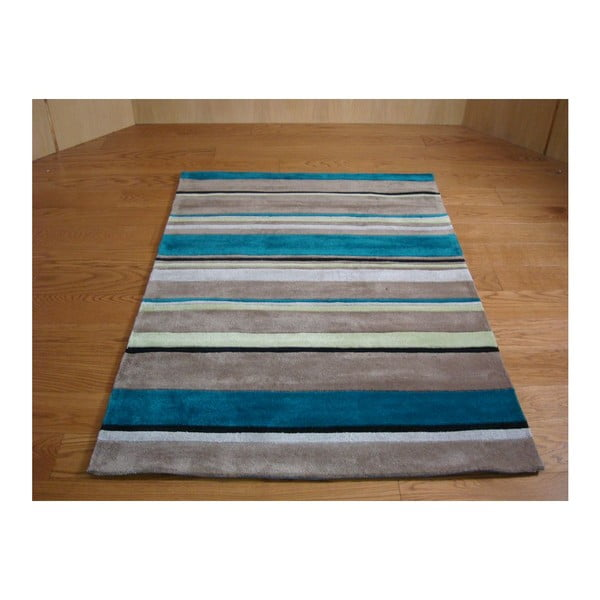 Koberec Broad Stripes Teal, 160 x 220 cm
