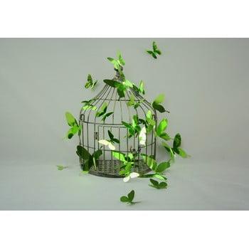 Set de 12 autocolante cu efect 3D Ambiance Butterflies Green de la Ambiance