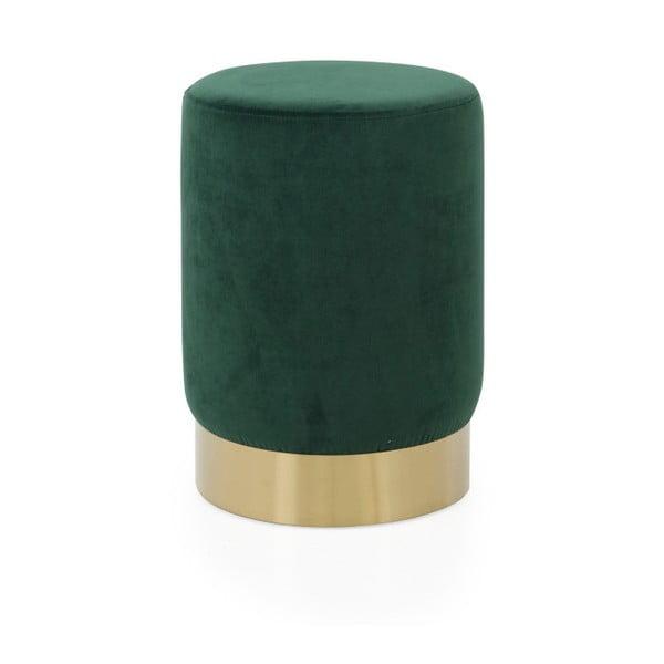 Zielony puf Tenzo Hanna, ø 33 cm