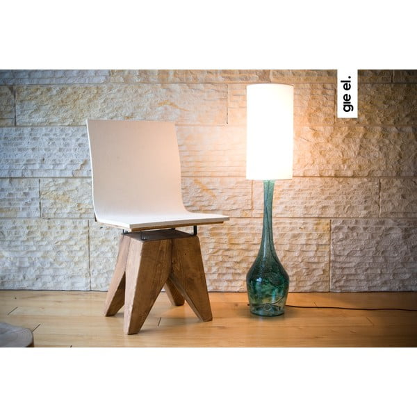 Stolní lampa Glass Table, tyrkysová