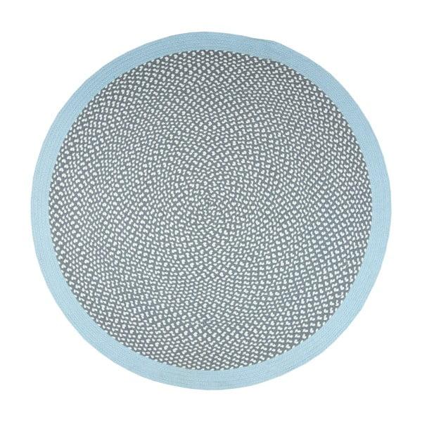 Dětský modrý ručně vyrobený koberec Nattiot Brenda, ∅120cm