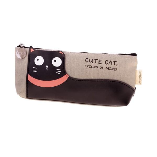Šedý penál Languo Lazy Cat