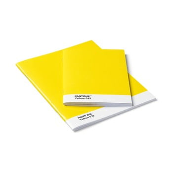 Set 2 caiete Pantone, galben de la Pantone