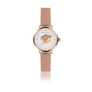Dámské hodinky s páskem z nerezové oceli v barvě růžového zlata Emily Westwood Monstera