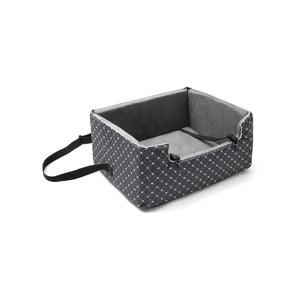 Šedá přepravní taška pro psa do auta Marendog Paws, 46 x 57 x 25 cm