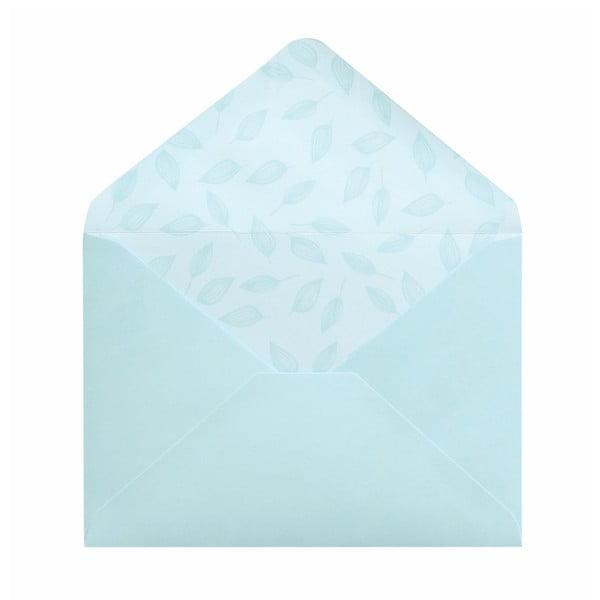 Sada 10 komplimentek s obálkami Portico Designs Summer Leaves