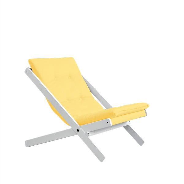 Skládací křeslo Karup Design Boogie White/Yellow
