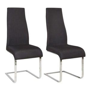 Sada 2 černých jídelních židlí Støraa Teresa