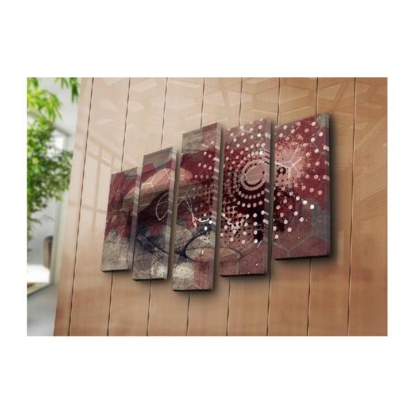 5dílný nástěnný obraz na plátně Spiral