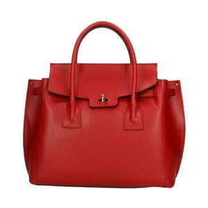Červená kožená kabelka Roberto Buono Lana