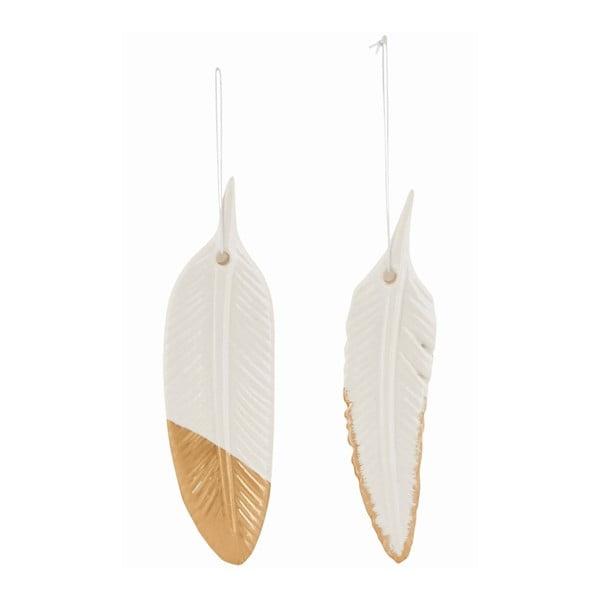 Sada 2 závěsných keramický peříček Ornament Feather
