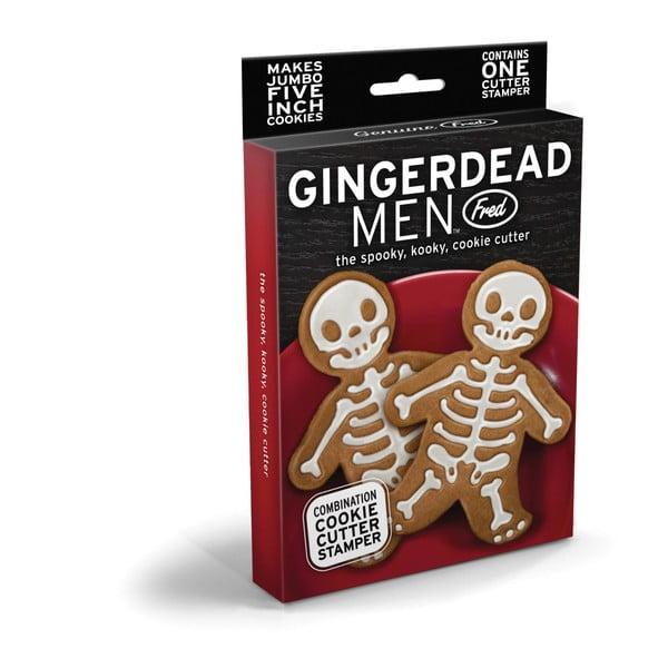 Set vykrajovátka a razítka na cukroví Fred & Friends Gingerdead Men