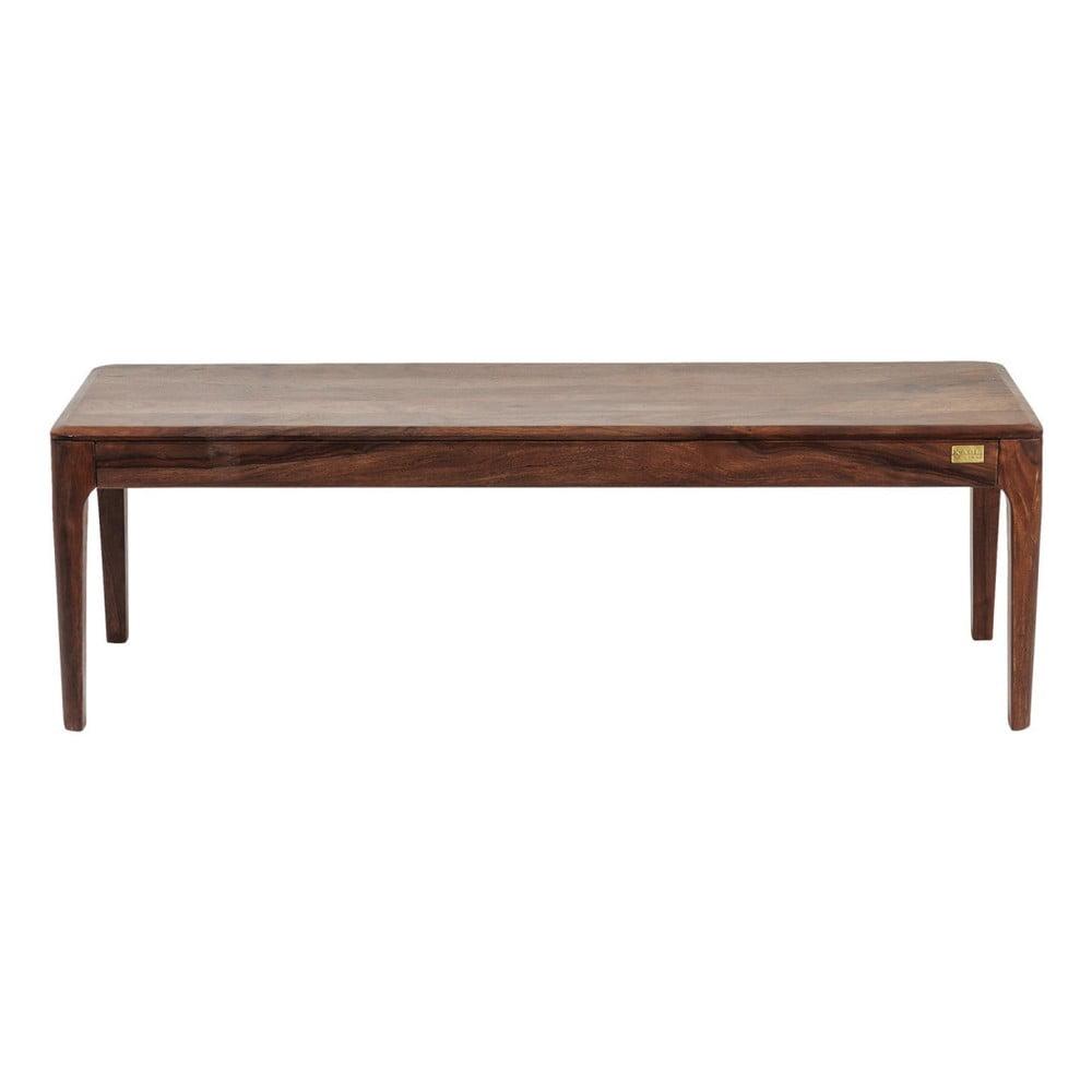 Tmavá lavice ze sheesamového dřeva Kare Design Brooklyn, 140cm